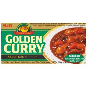 Curry Giapponese Piccante Medio 240g S&B