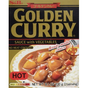 Curry Giapponese Piccante con Verdure 230g S&B