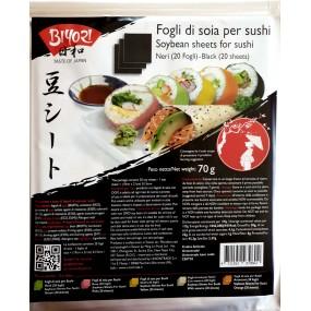 Fogli Neri di Soia per Sushi 70g BIYORI