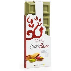 Tavoletta di Cioccolato al Pistacchio 400g BACCO