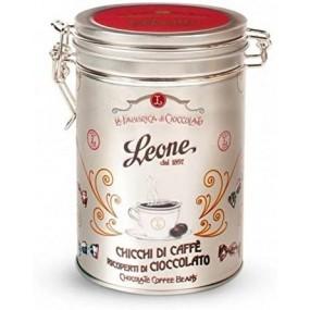 Chicchi di Caffè Ricoperti di Cioccolato in Latta 150g PASTIGLIE LEONE